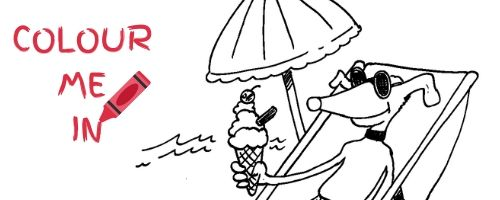 Kids, colour in our summer colouring pic for a chance to win a prize